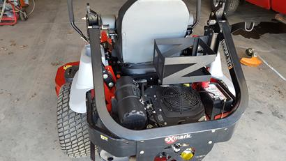 Handheld blower holder fits on any mower that has a rollbar.  It is designed to fit behind drivers seat so it will be out of your way but easily accessible.