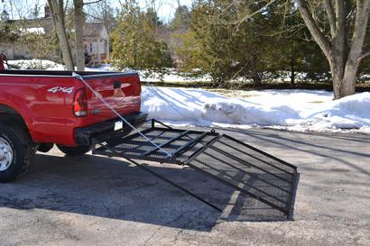 "Equipment hauler can be used to haul snowblowers, motorcycle, 4-wheeler, small mowers.  Made to fit a 2"" x 2"" trailer hitch"